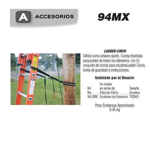 Ladder - Cinch  No. De modelo 94-2MX