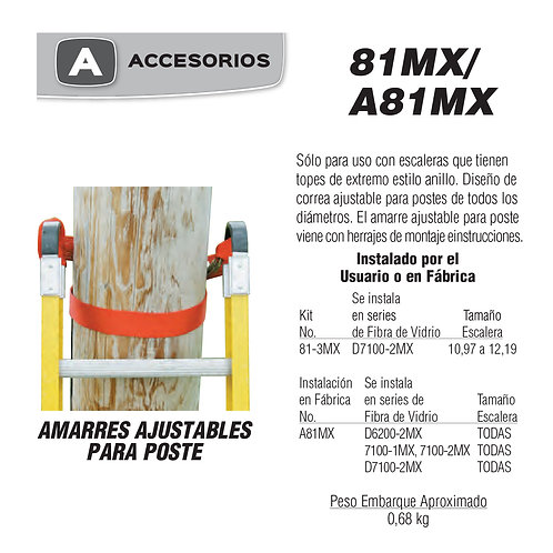 Bandola Ajustable Para Poste No de modelo 81-3MX