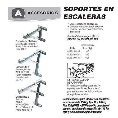 Soportes Escaleras Plataformas No. De modelo AC10-14-02MX