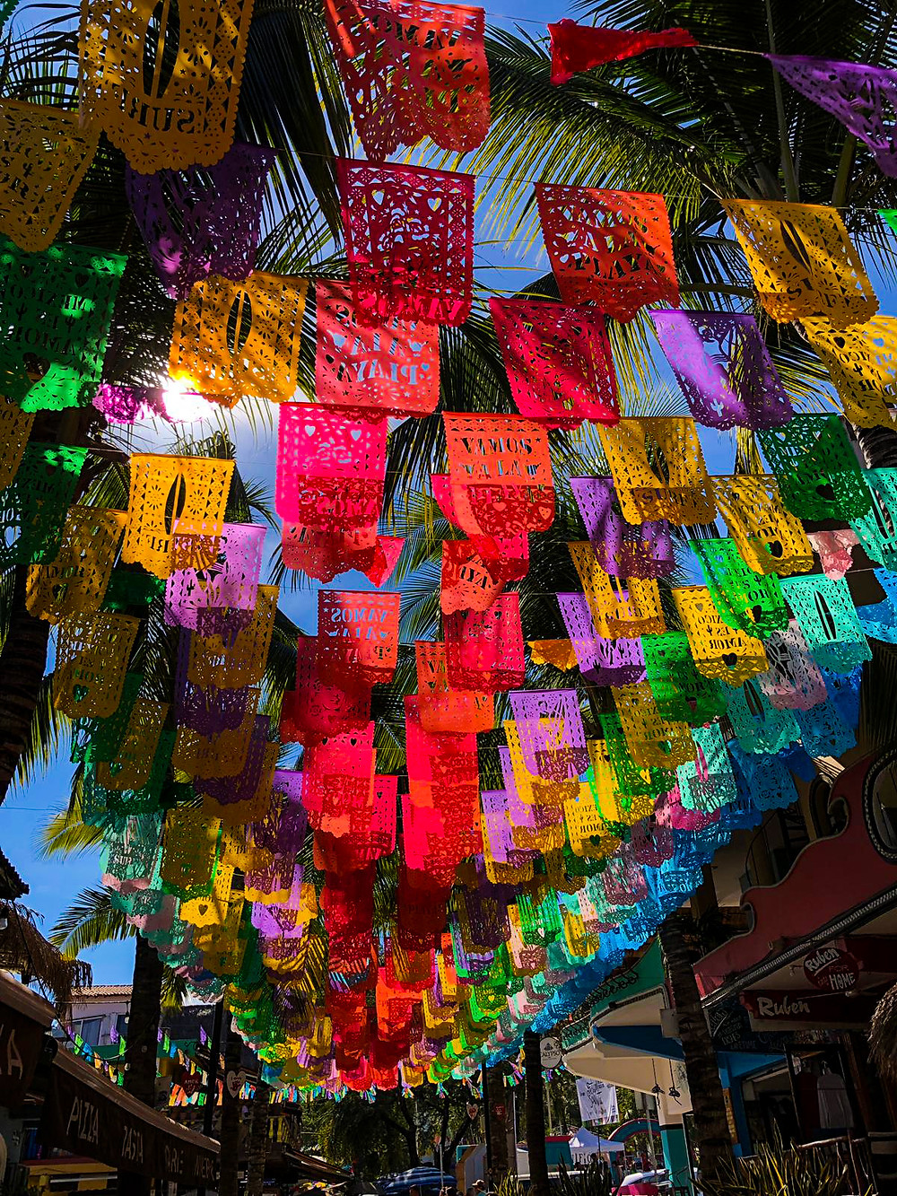 Sayulita Mexico downtown street tourist visit