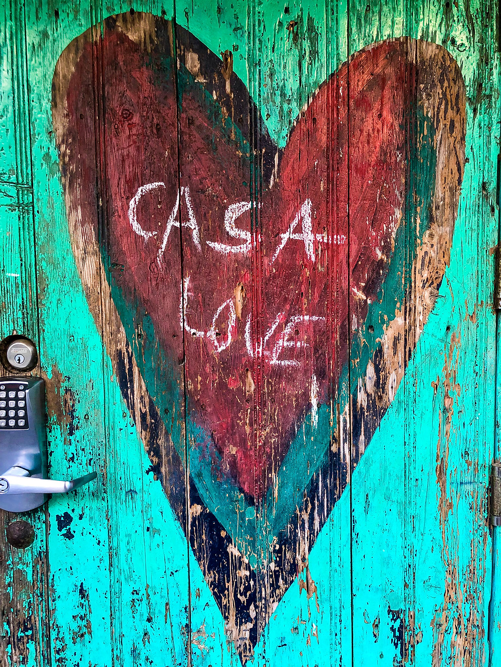 Sayulita Mexico downtown house door painted casa love