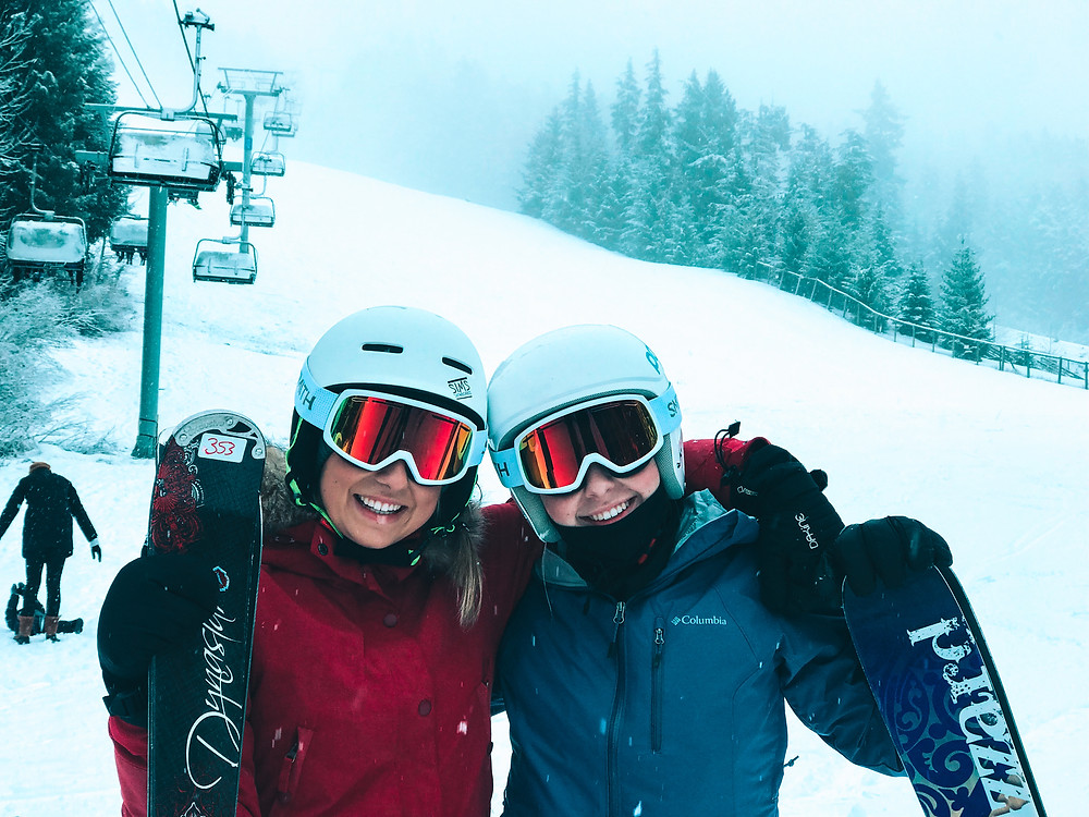 Girls ready to hit the slopes