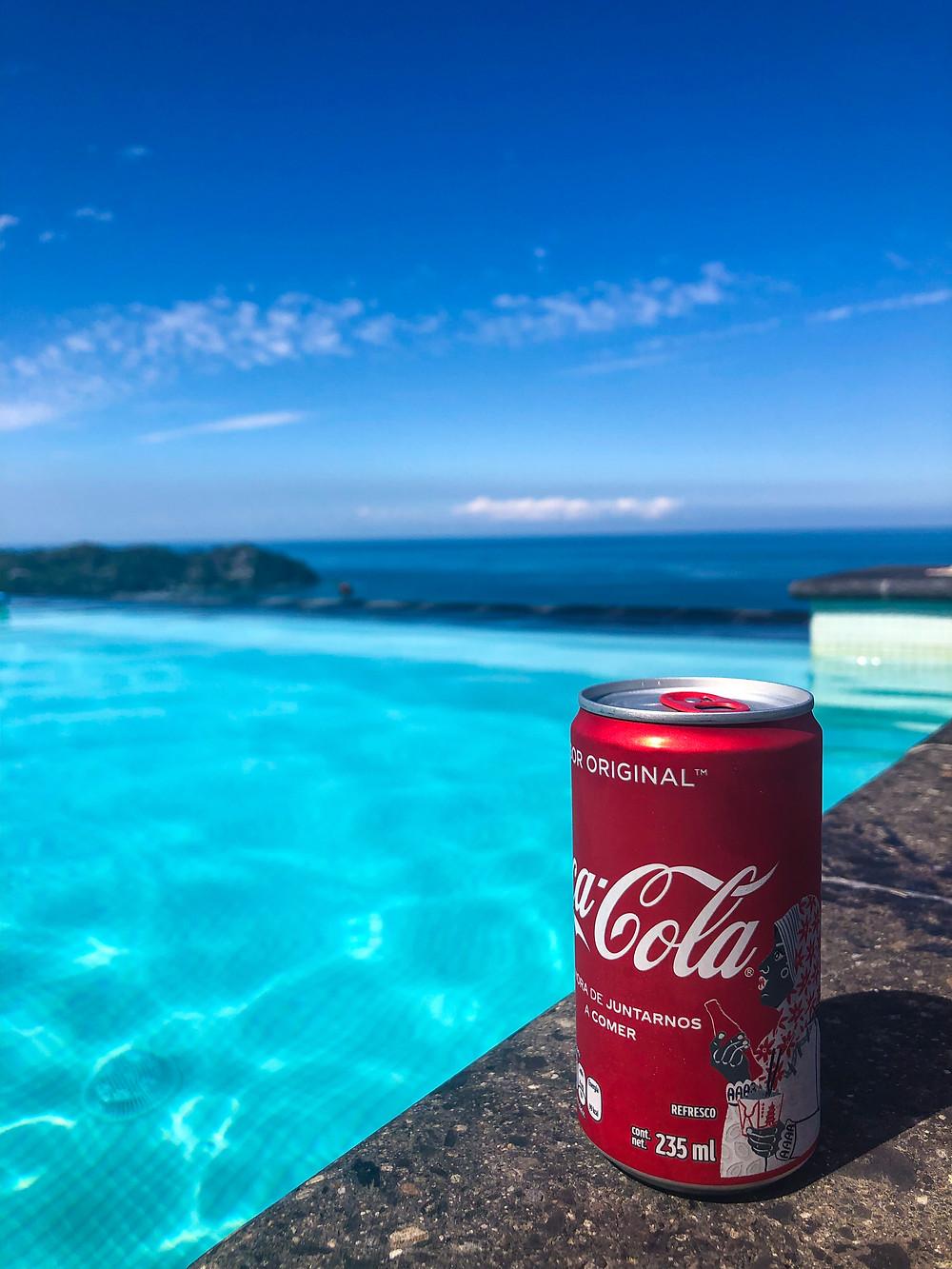 sayulita mexico pool coca cola tourist
