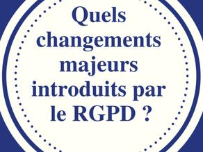 Quels changements majeurs introduits par le RGPD ?