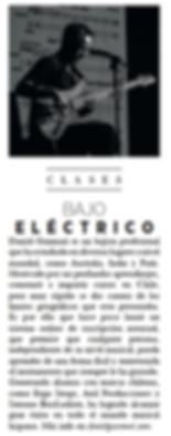 Revista Harper's Bazaar, Daniel Gazmuri, clases de bajo eléctrico, cursos online, serrano bassluthier, ergo straps, anil producciones