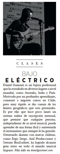 Clases online de bajo y cursos gratis de bajo eléctrico por el bajista y compositor Daniel Gazmuri. Tambíen se puede estudiar vía skype desde la comodidad de tu hogar.