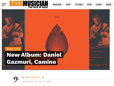 "Bass Musician Magazine   New album release ""Camino"""