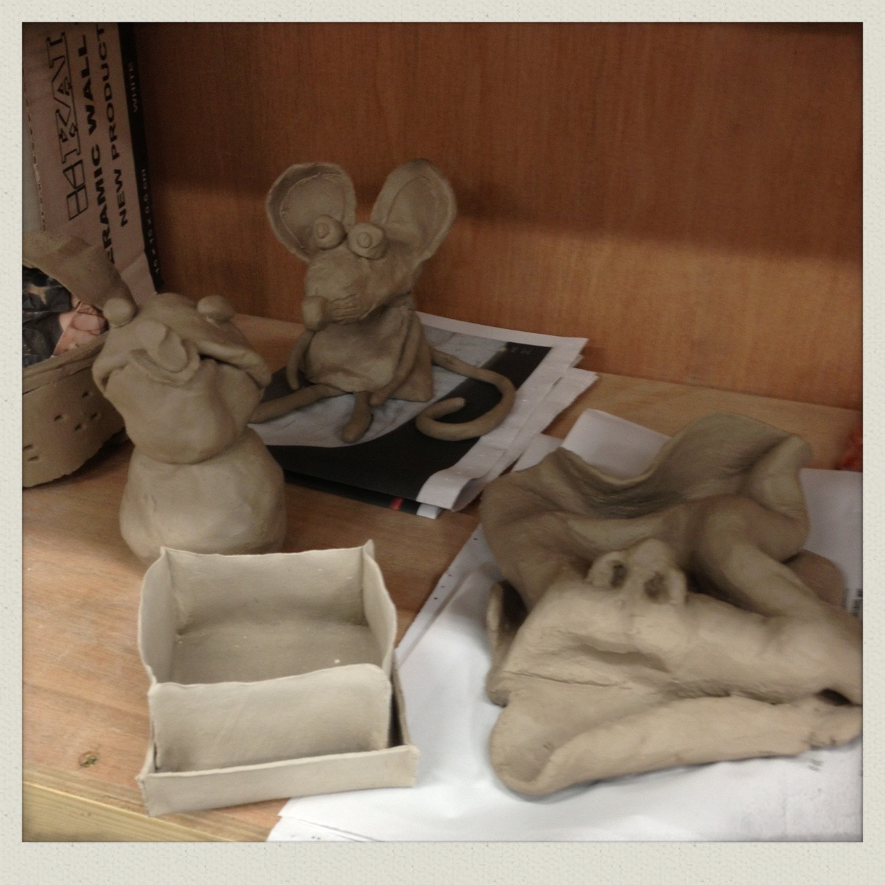 Paper clay work