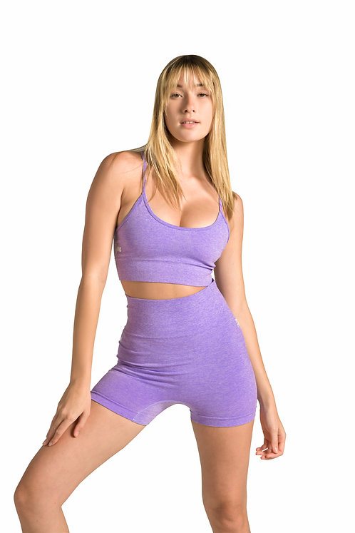 GYM BODY Seamless Shorts in Lilac