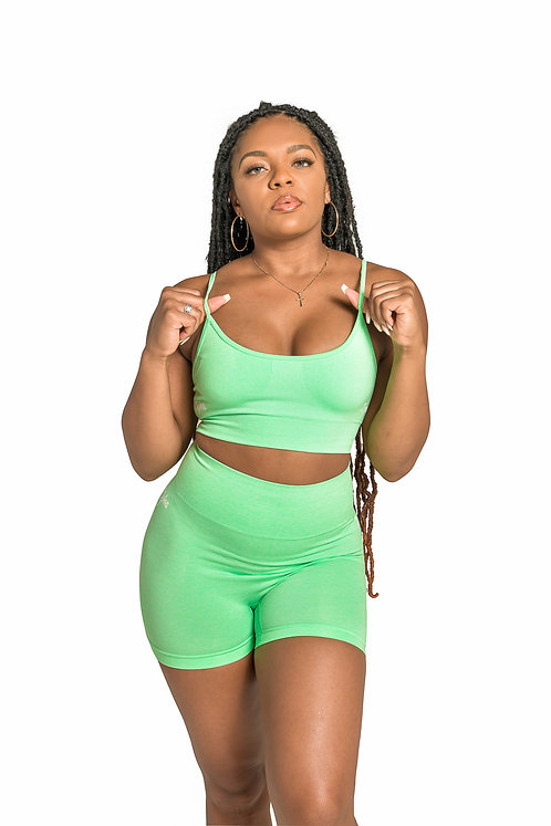 GYM BODY Seamless Set  in Mint Green