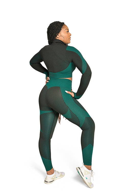 Sporty Compression 3pc Set in Teal