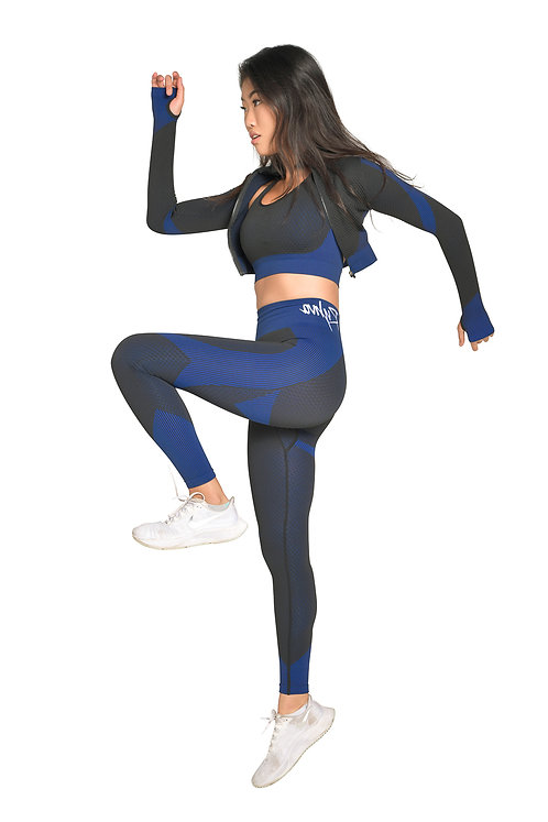 SPORTY Compression 3pc Set in Royal Blue