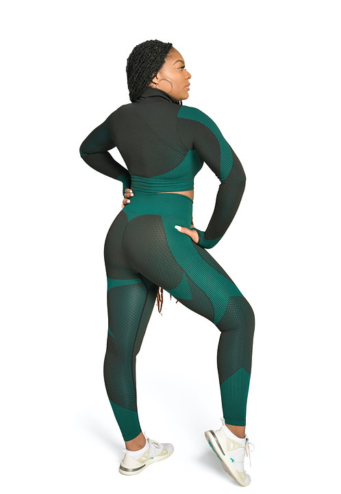 SPORTY Compression Full Length Leggings in Teal