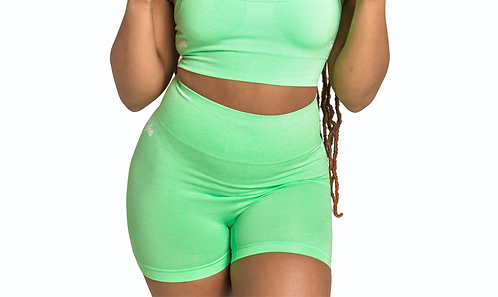 GYM BODY Seamless Shorts in Mint