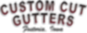 CCGutters 2 line logo with only Fostoria
