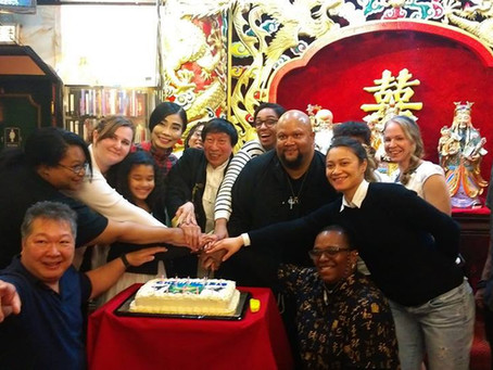 Celebrating Grand Master Chi Ling Chiu's birthday at Joy Tsin Lau