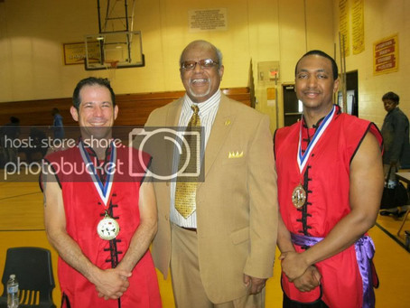 Sifu Tom Lugo got 1st Place in Adult Black Belt Open Sparring and Manny Gilbert got 2nd place in the