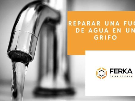 Cómo reparar una fuga de agua en el grifo
