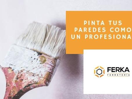Cómo pintar tus paredes con acabado profesional