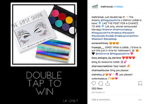 Like the post Instagram giveaway by Mehron
