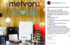 Mehron Makeup's repost to your feed Instagram giveaway