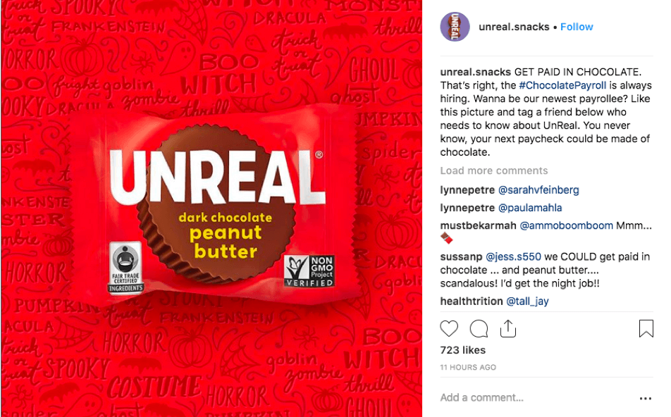 UnReal's tag a friend Instagram giveaway