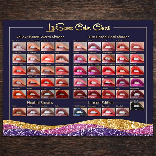Lipsense Color Chart 50 Colors 85x11 Instant Download