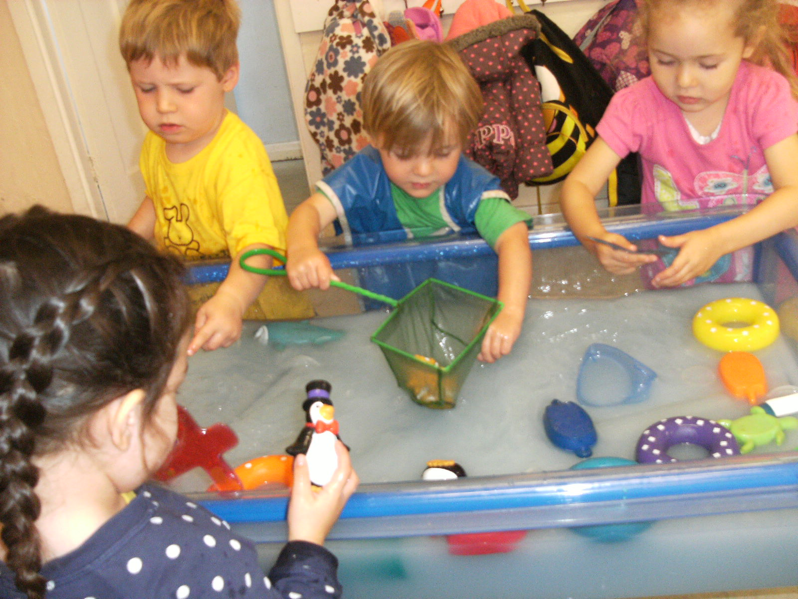 Indoor messy play