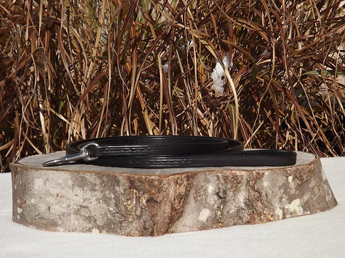 "1/2"" x 5' Black Leather Leash"