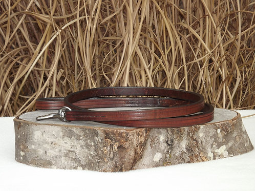 "5/8"" x 5' Weathered Brown Harness Leather Leash"