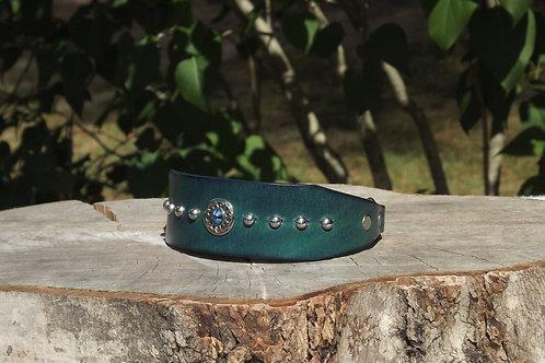 """Brushed Aqua Sighthound Chain Martingale (12"""")"""