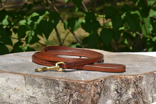 "3/8"" x 5' Golden Brown Leather Leash"