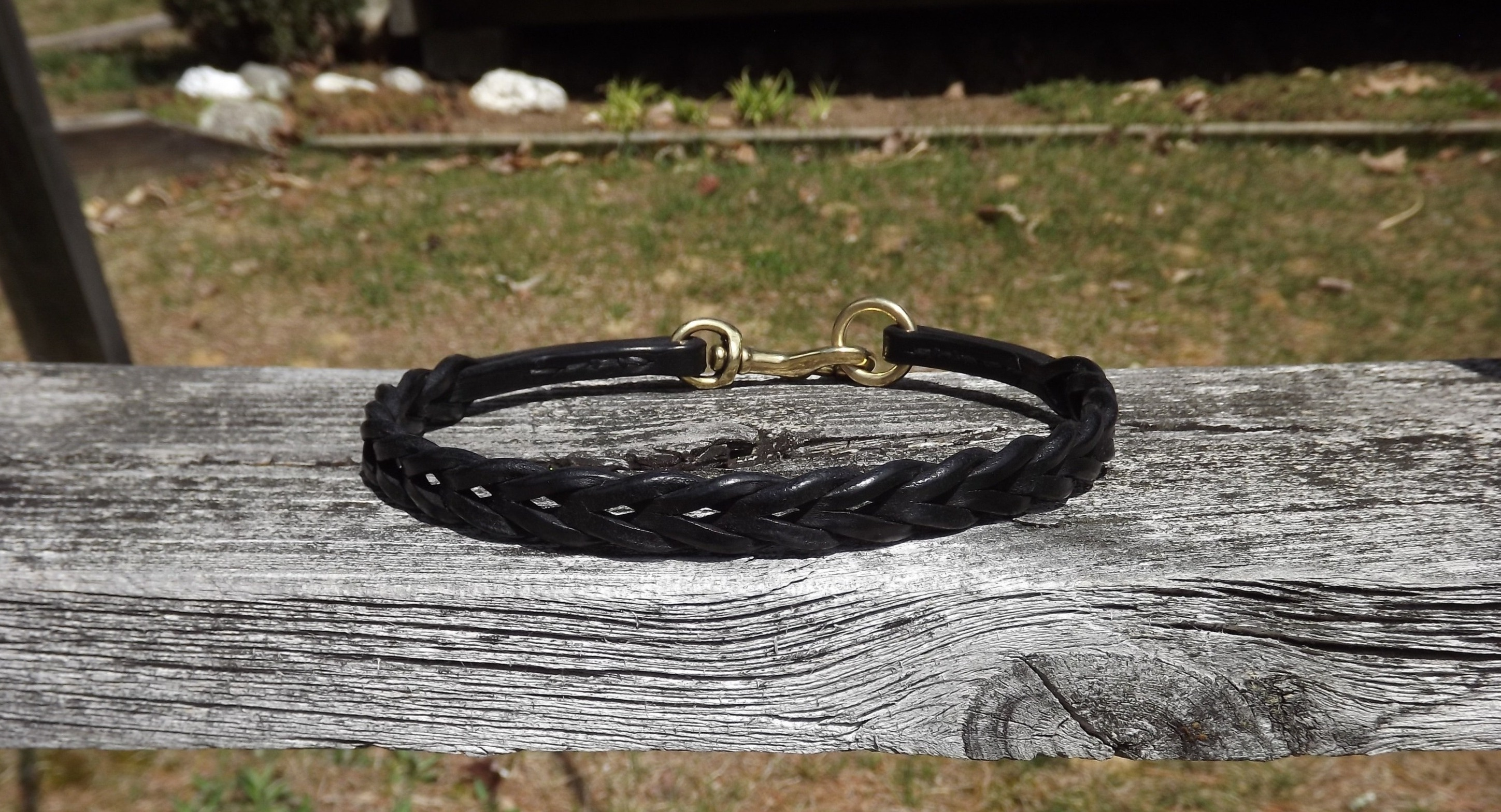 Black Braided Tag Collar with Snap