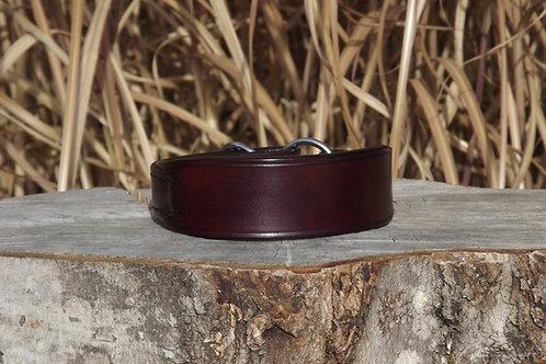 "Burgundy/Cordovan Flat Martingale Collar (12 1/4"")"