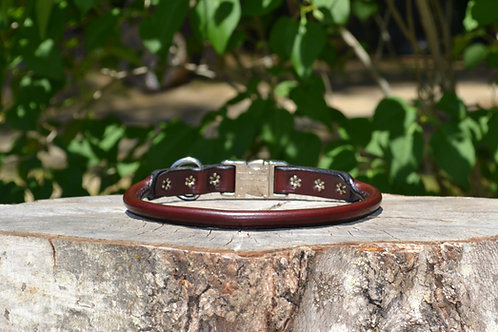 """17 3/4"""" Cherry Rolled Leather Side Release"""