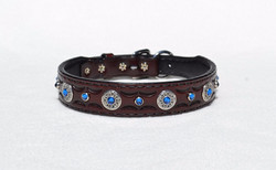 Tooled collar w/ hand stitched liner