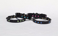 Tooled collars w/ Swarovski crystals