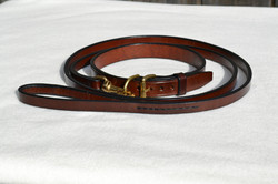 Rich brown harness leather