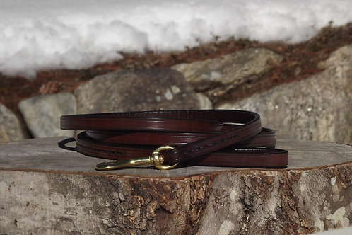 """1/2"""" x 6' Rich Brown Leather Leash"""