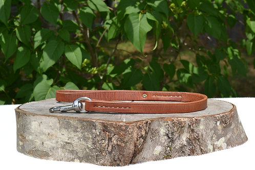 "5/8""+ x 2' Russet Harness Leather Traffic Lead"
