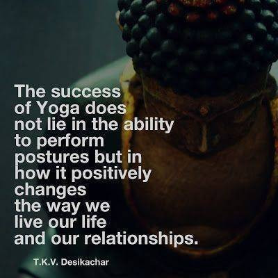 Success in yoga quote - positive changes
