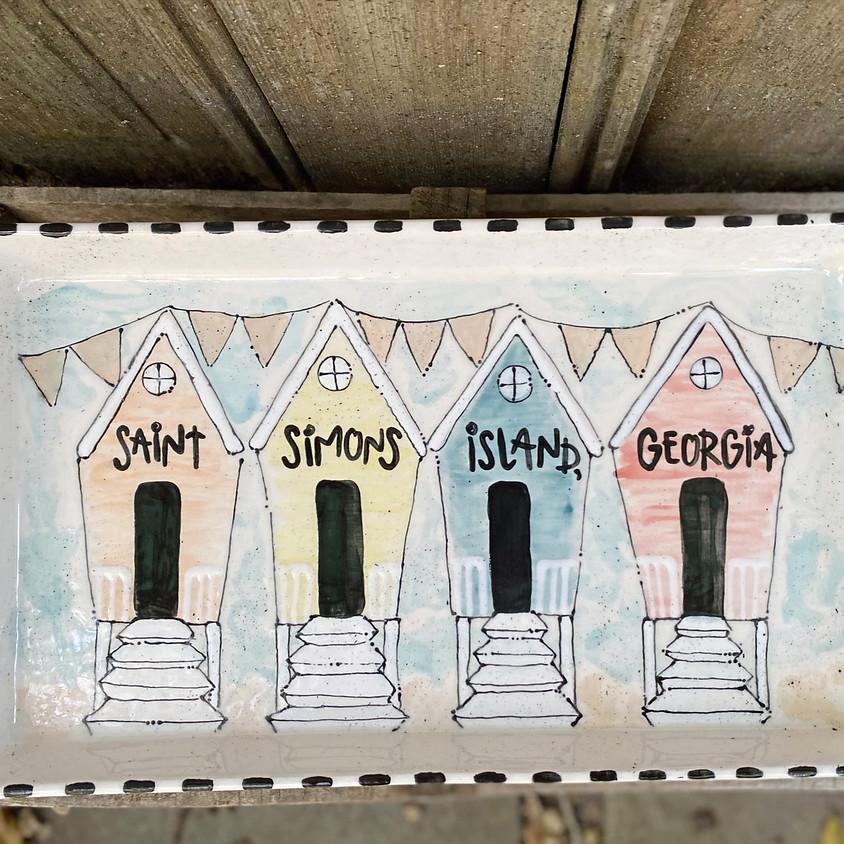 Beach Hut Paint-Along at Ocean Lodge