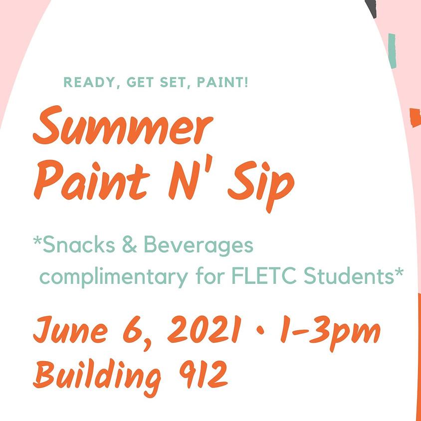 Summer FLETC Paint N' Sip