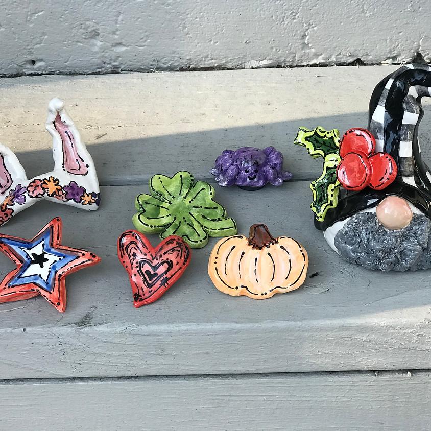 Seasonal Gnome Clay Class