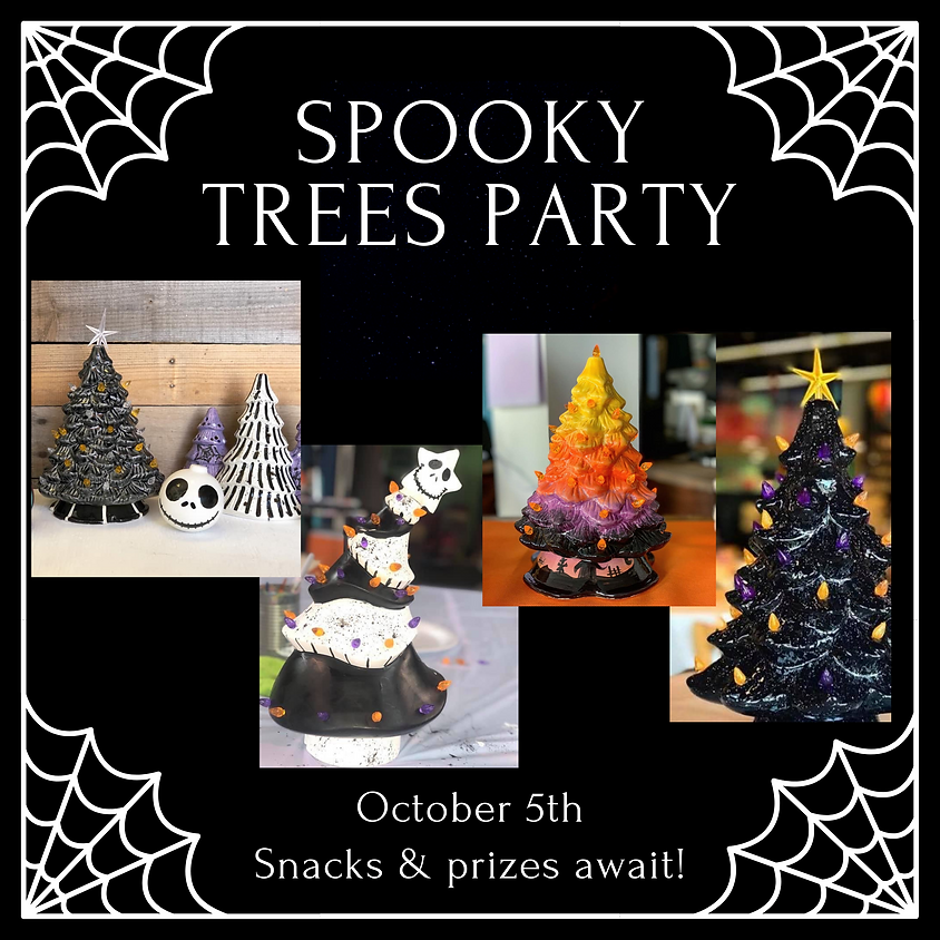Spooky Trees Painting Party
