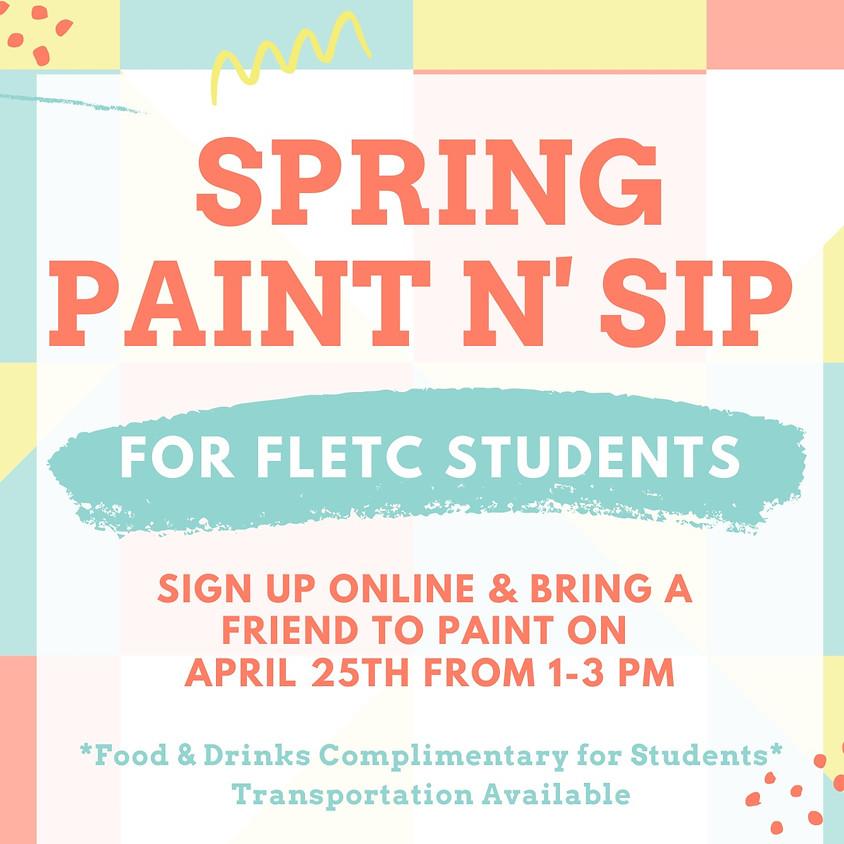 FLETC Spring Paint n' Sip