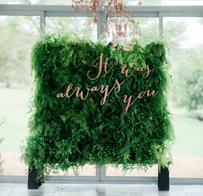 2017 Wedding Trend: Greenery Walls