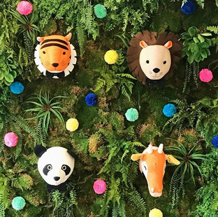 Safari Party Stuffed Animal Heads