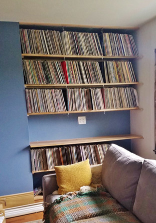 Maple Record Shelves - Pittsburgh, PA