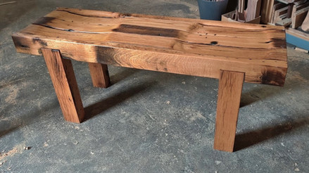Outdoor Red Oak Bench - Process